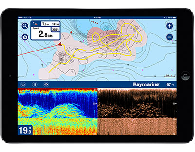 Raymarine Dragonfly and Wi-Fish