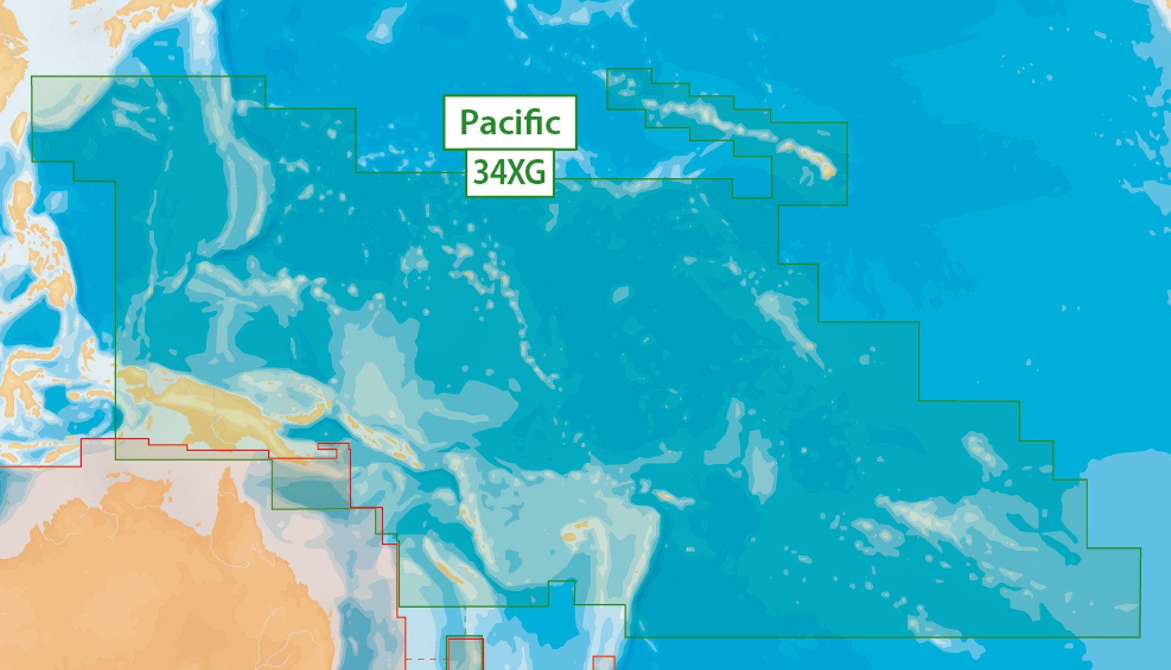 Navionics + 34XG Pacific Islands MSD Plus SD Adapter