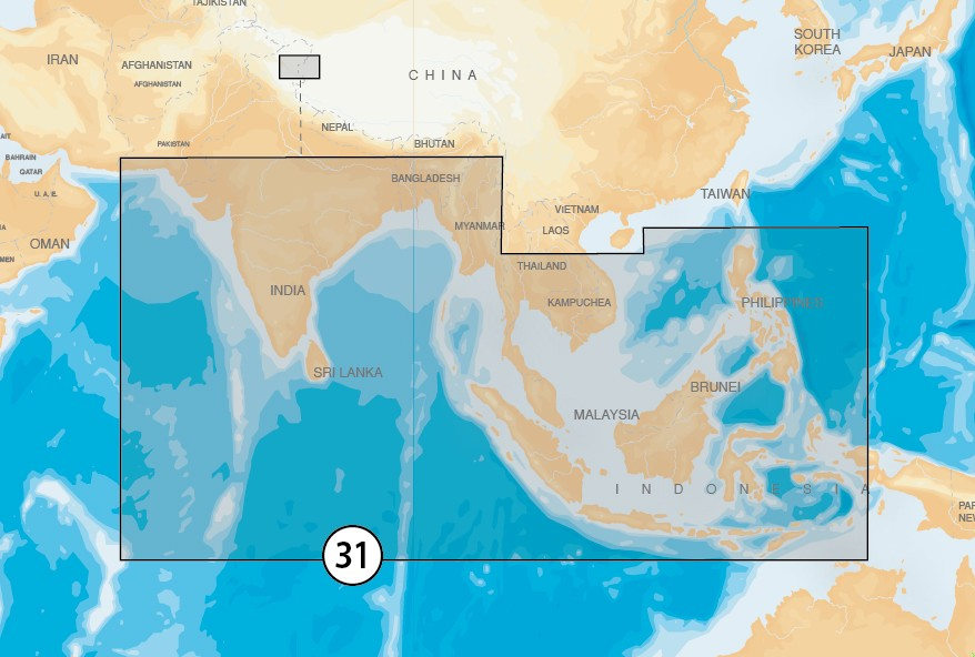 INDIAN OCEAN & SOUTH CHINA SEA - MSD Plus SD Adapter